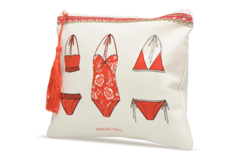 Kleine lederwaren Petite mendigote Kit de survie Bikini Plage Wit model