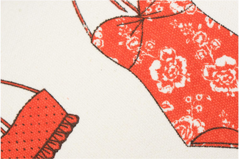 Kleine lederwaren Petite mendigote Kit de survie Bikini Plage Wit links