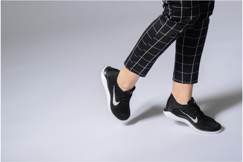Chaussures de sport Nike Wmns Nike Free Rn Flyknit 2018 Noir vue bas / vue portée sac