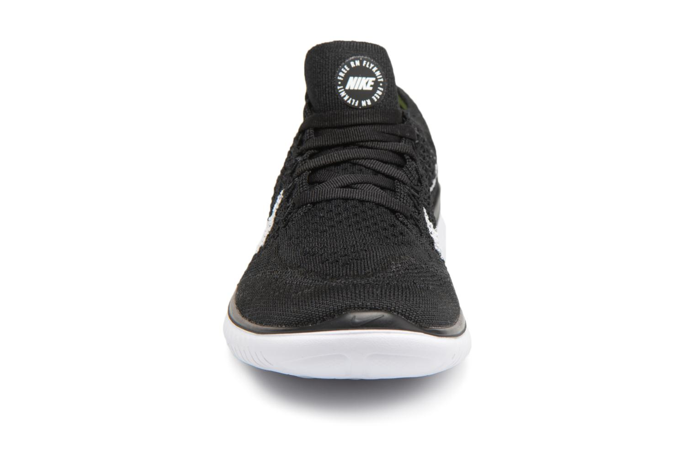 Chaussures de sport Nike Wmns Nike Free Rn Flyknit 2018 Noir vue portées chaussures