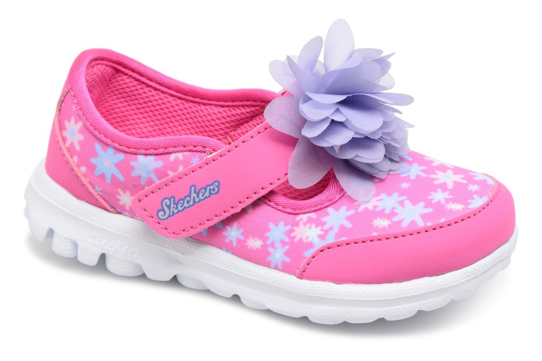 Sneakers Skechers GO WALK 4 BITTY BLOOMS Rosa vedi dettaglio/paio