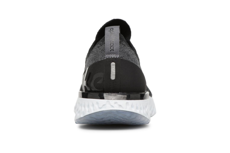 Chaussures de sport Nike Nike Epic React Flyknit (Gs) Noir vue droite