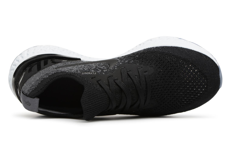 Chaussures de sport Nike Nike Epic React Flyknit (Gs) Noir vue gauche