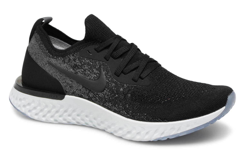 Chaussures de sport Nike Nike Epic React Flyknit (Gs) Noir vue détail/paire