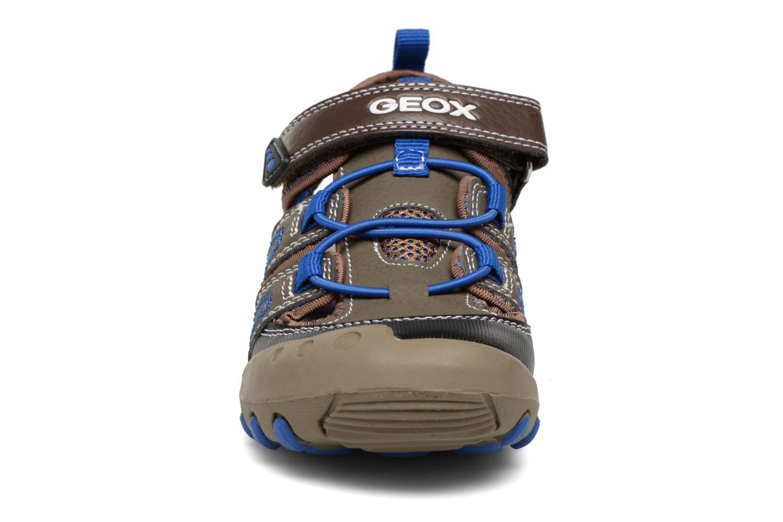 Sandales et nu-pieds Geox J SAND.KYLE A J72E1A Marron vue portées chaussures