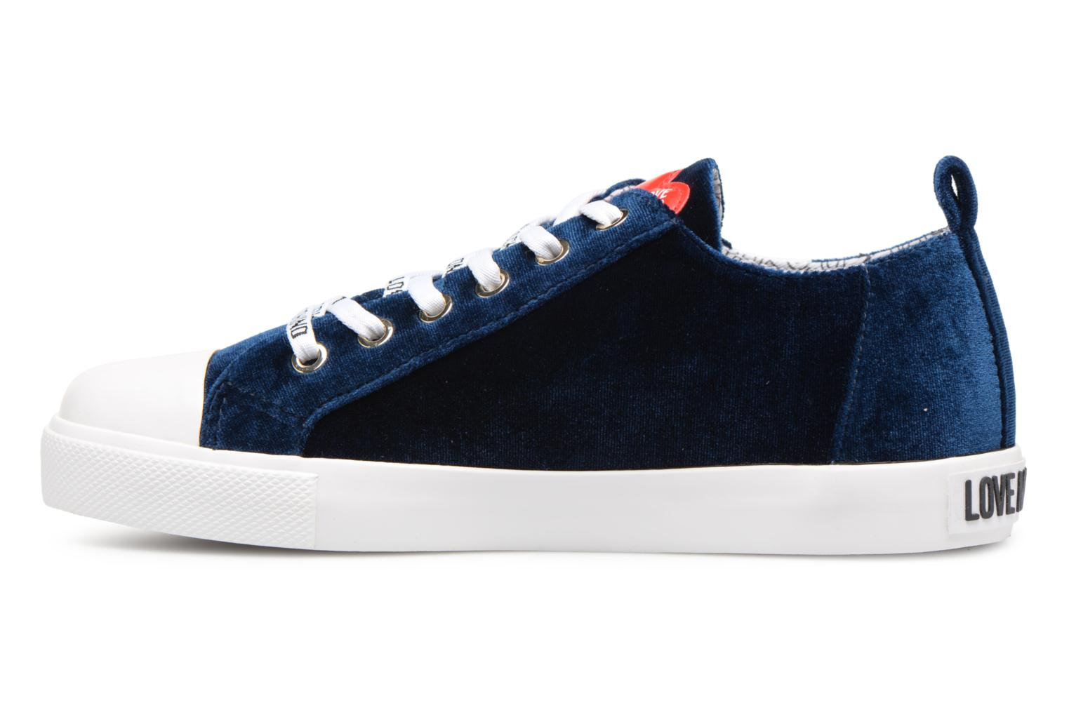 Boston sneaker velvet Moschino Love Blue 45SCq