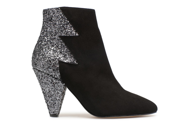 Marques Chaussure femme Made by SARENZA femme 80's Disco Girl Bottines à Talons #5 Cuir Velours Noir et Glitter Noir