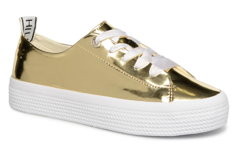 Los zapatos más populares para hombres y mujeres Tommy Hilfiger MIRROR METAL FLATFORM SNEAKER (Oro y bronce) - Deportivas en Más cómodo