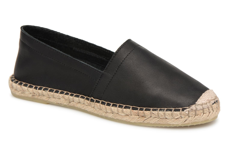 Zapatos promocionales Pieces KATIE LEATHER ESPADRILLE (Negro) - Alpargatas   Cómodo y bien parecido