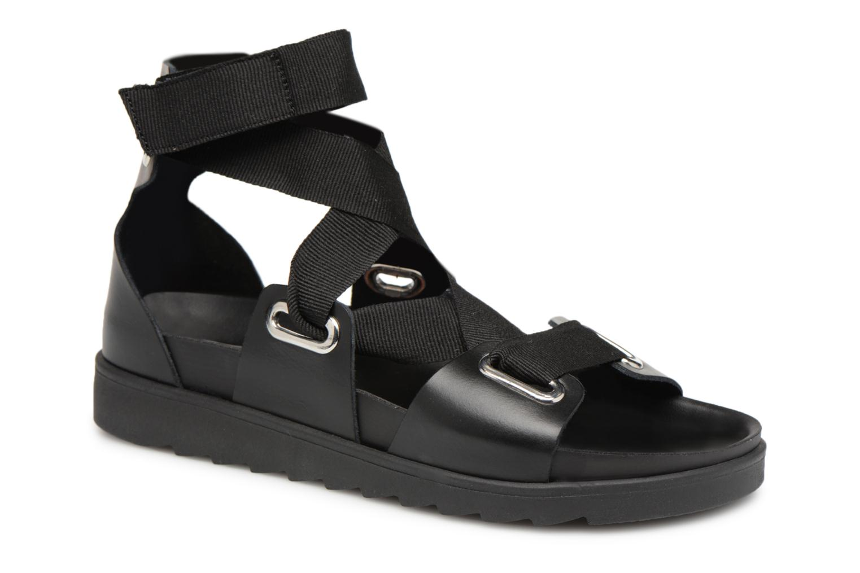 Zapatos promocionales Pieces MARIELLA LEATHER SANDAL (Negro) - Sandalias   Los zapatos más populares para hombres y mujeres