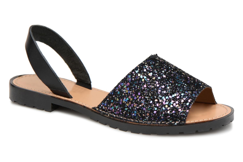 Grandes descuentos últimos zapatos Pieces MERCY LEATHER GLITTER SANDAL (Azul) - Sandalias Descuento