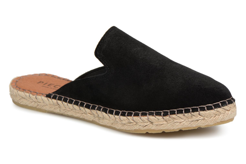 Zapatos promocionales Pieces MOLIN SUEDE ESPADRILLE MULE (Negro) - Zuecos   Casual salvaje