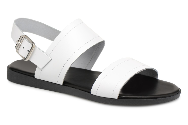 Zapatos promocionales Pieces PENELOPE LEATHER SANDAL (Blanco) - Sandalias   Venta de liquidación de temporada