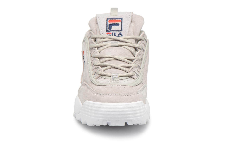 Sneaker FILA Disruptor Suede grau schuhe getragen