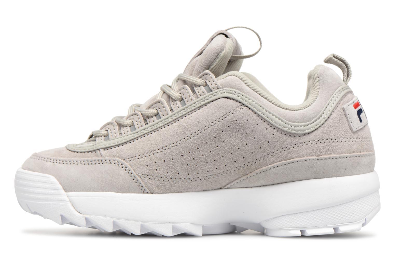 Sneaker FILA Disruptor Suede grau ansicht von vorne