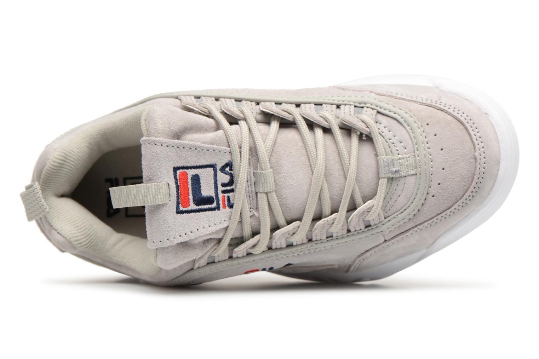 Sneaker FILA Disruptor Suede grau ansicht von links