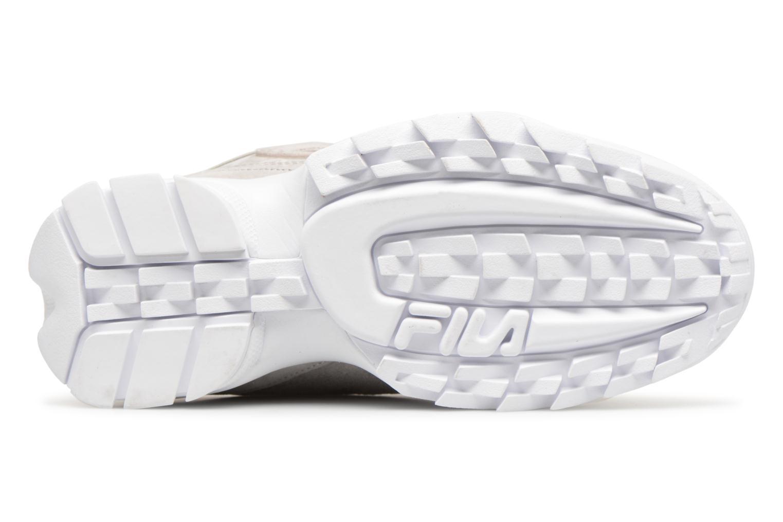 Sneaker FILA Disruptor Suede grau ansicht von oben