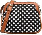 Canvas polka dot cross body