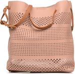 Pull through perforated bucket bag