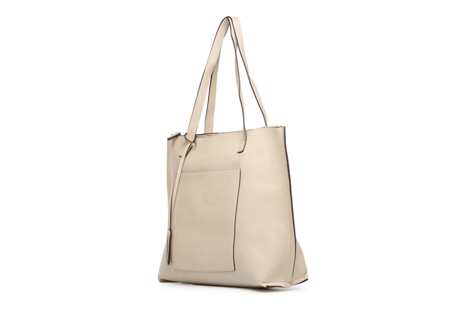 Sacs à main Street Level Tote with top zipper Beige vue portées chaussures