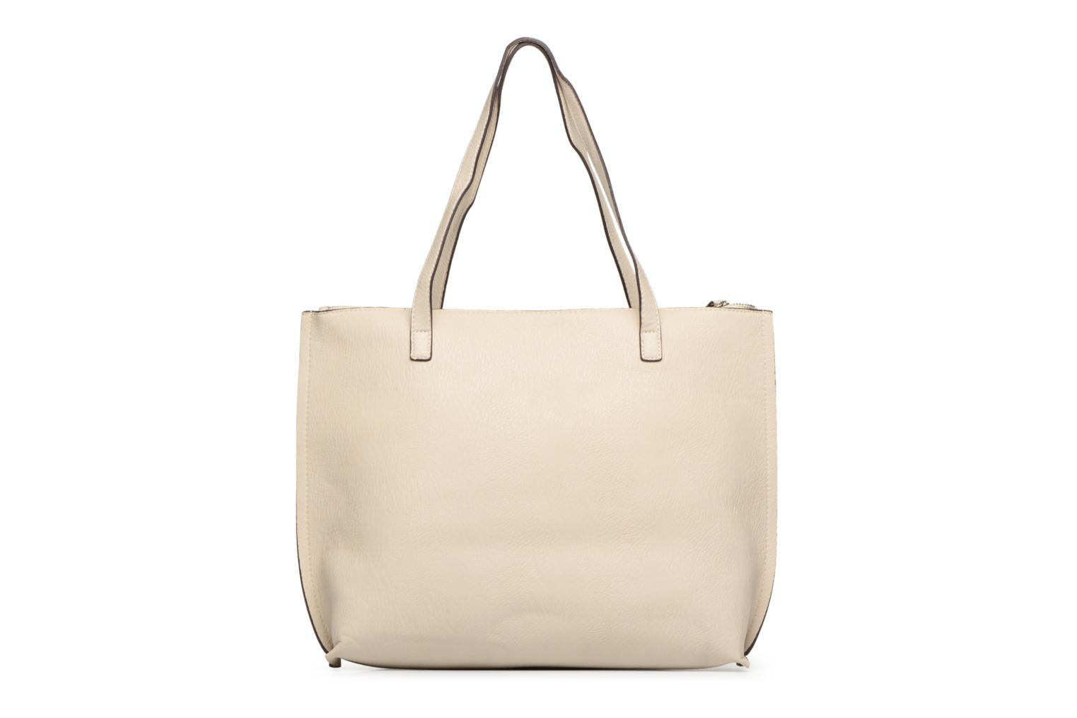 Sacs à main Street Level Tote with top zipper Beige vue face
