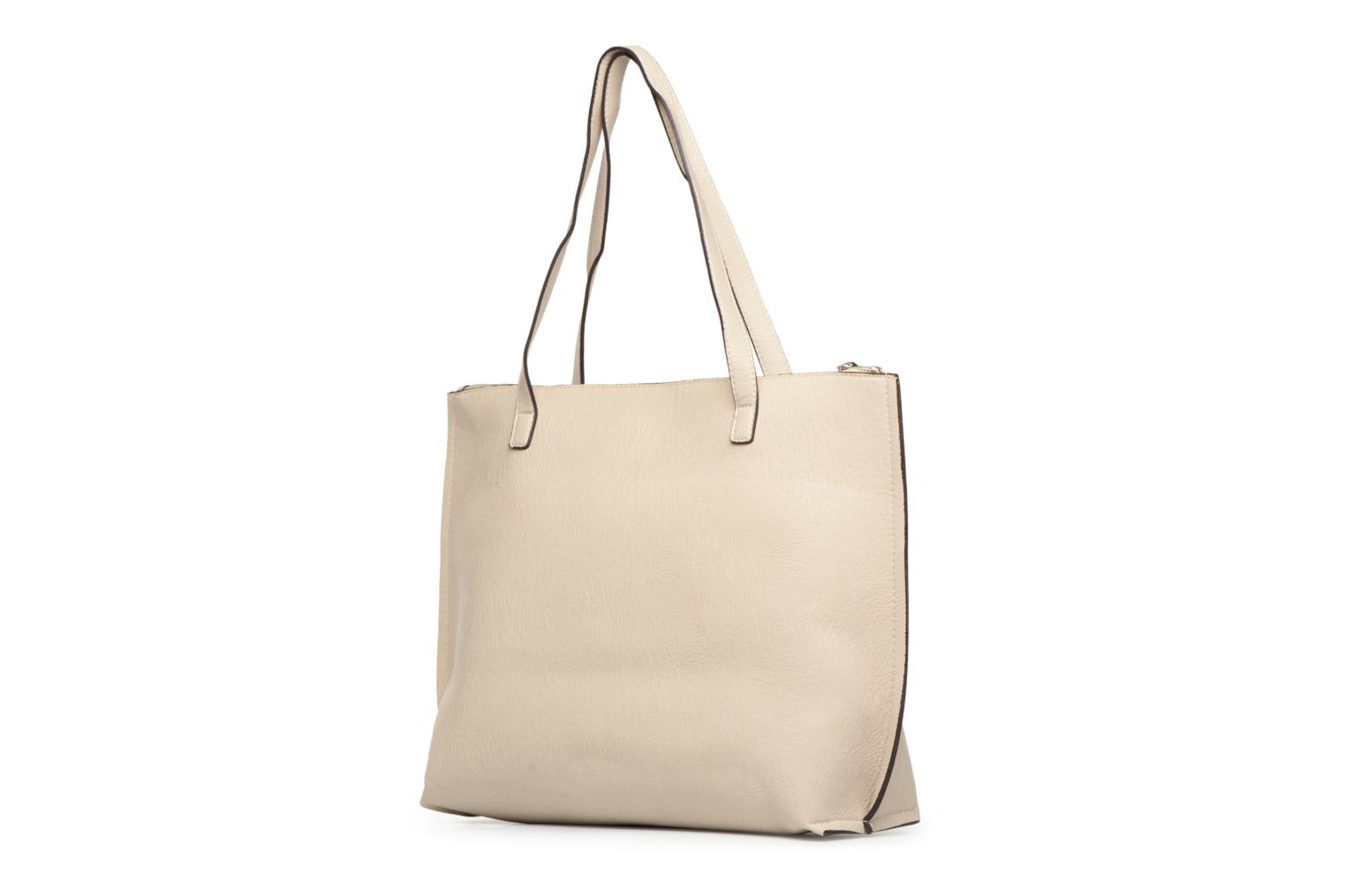 Sacs à main Street Level Tote with top zipper Beige vue droite