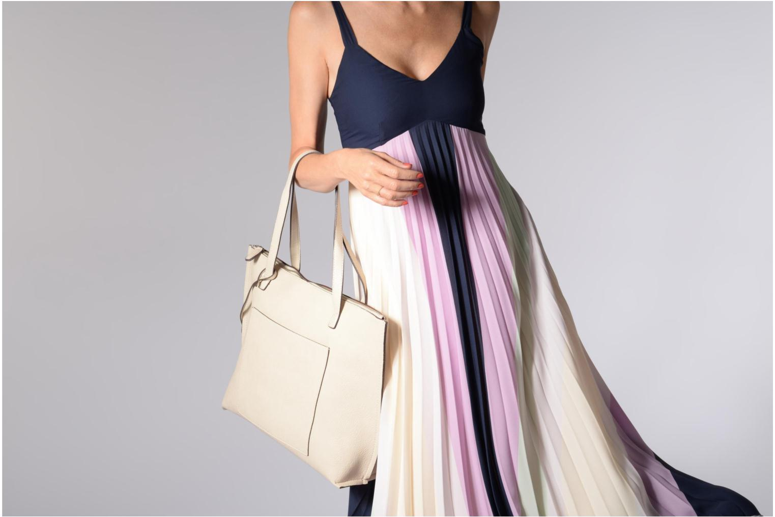 Handtassen Street Level Tote with top zipper Beige boven