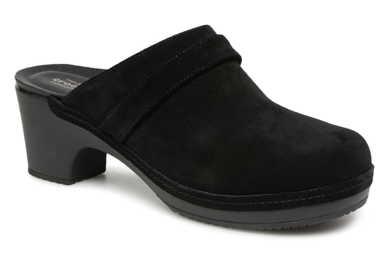Grandes descuentos últimos zapatos Crocs SarahSuedeClg (Negro) - Zuecos Descuento