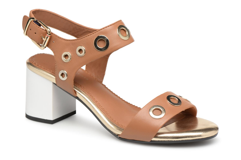 Zapatos de mujer baratos zapatos de mujer Tommy Hilfiger Sandales à talon Summer Cognac (Marrón) - Sandalias en Más cómodo